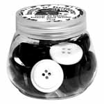 Beautifully dyed, high quality buttons in colour co-ordinated families. Perfect for sewing, crafting, quilting and home decor projects. Available in 12 vivid colour ways. Assorted button sizes in each reusable clear bottle; net weight 75g. Clear bottle helps you easily select colour coordinating buttons for all of your projects.