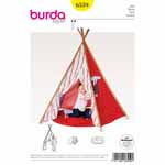 Tipi for the children's room or for outside on a nice day. Your kids will love the curtained entrance, the window with a shade, the padded floor and lots of seat cushions for comfort. Bamboo poles give the required stability and make it easy to put up and take down the tipi.