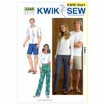 The Unisex pants are designed for medium weight woven fabrics.  We suggest cotton, cotton types, sheeting, twill, chino, linen. The Unisex pull-on pants and shorts have elastic in casing at the waist.  The pants and shorts are very easy to make and have special easy-to-follow sewing instructions.