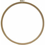 Round wooden hoop for hand embroidery use.