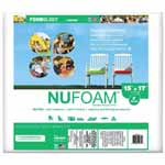 "Poly-Fil NuFoam® is a safe alternative to conventional foam that is made from densified polyester batting. It is mildew resistant, and won't yellow or disintegrate. It's perfect for chair cushions, deck furniture, camping, futons, crib bumpers, playpen mats, recreational vehicle accessories and more. Made from compressed layers of 100% polyester that range from 1″ to 4″ thick. NuFoam® works best for occasional seating as it will compress over time. Use NuFoam that is 1"" thicker than your intended cushion to allow for compression. It will be a snug fit inside the cover. Resists mildew and is non-allergenic. Unconditionally guaranteed. Care: Hand wash, air dry."