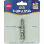 An easy, convenient way to store needles while stitching. The DMC Needle Case has a ring for attaching to a chatelaine or to secure to a project. The DMC Needle Case has an attractive pewter finish, with beautiful vintage styling. DMC Art. 6112/3.