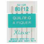 Ideal for piecing and quilting layers of cotton fabrics and batting. A strengthened longer shaft also helps to reduce needle deflections as the needle penetrates multiple layers of fabric while maintaining a perfectly straight stitch.