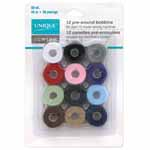 Specifically designed for use in bobbins for embroidery, sewing, and quilting. Fits Singer Class 15 machines. Colours are assorted.