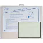 White resuable pressing sheet used for fusible web, appliqué, glue application of craft projects and more.
