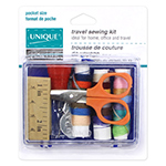 Ideal for home, office and travel. Sewing kit contains:1 scissors, 3 buttons, 1 needle threader, 1 thimble, 1 tape measure, 2 hand needles, 21 coloured threads, 2 safety pins and 2 pins.