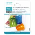 Soft, pliable, lightweight thimbles are comfortable and fit most finger sizes. Sizes 14, 15 & 16.