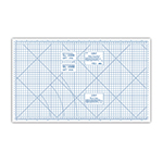Designed to make sewing projects easy and fun. This board converts any flat surface into a work area. It features a durable white board with green markings, inch and metric measurements, and a metric equivalency chart. Board has straight and true bias guidelines with scallop and circle patterns also. Folds for easy storage. 36″ x 60″ (91cm x 152 cm). Folds up to be 10″ x 36″ x 1″.