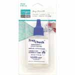 Fray Check is a colourless, plastic solution which reinforces and locks plastic threads to prevent fraying or to prevent further wear after fraying.