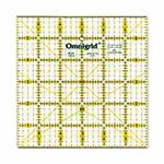 Includes 30°, 45° and 60° angles. Use to cut, square and trim blocks. Great for lap work, baby quilts and checking finish size of blocks. Made of strong and durable premium quality acrylic plastic. Unique black and yellow double sight lines for easy viewing when working with light and dark fabrics. Laser cut to within 0.002″ accuracy with a smooth finish. Specially designed for right and left handed use.