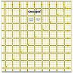 Includes extra <sup>1</sup>&frasl;<sub>2</sub>&Prime; for seam allowances and a diagonal angle line. Use to cut, square & trim blocks or for cutting borders and triangles. Made of strong and durable premium quality acrylic plastic. Unique black and yellow double sight lines for easy viewing when working with light and dark fabrics. Laser cut to within 0.002&Prime; accuracy with a smooth finish. Specially designed for right and left handed use.
