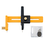 You'll use this OLFA® circle cutter on a variety of craft projects, from model making to photography, scrapbooks and signs. The cutter is ideal for cutting paper, film, acetates, cardboard and light wood. Cuts circles up to 6″ in diameter. Extra blade can be stored in handle. Includes 6 OLFA® COB-1 blades.