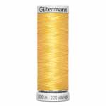 Gütermann Dekor 100% Rayon 40wt machine embroidery thread comes in a wide range of brilliant colours with silk-like lustre. Perfect for digitized designs for 40wt emboidery threads. Rayon provides superb coverage and sewability. For best results, choose the right stabilizer for the project and use Gütermann 100% Polyester Dekor bobbin thread in the bobbin. Loosen the top tension of the sewing machine to 2.5-3.0g when using. Grey spool colour. TKt No. 110, Tex: 27, Dtex: 270, 2-ply. Suggested needle size: US 10/12 (70-80).
