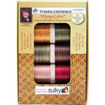 Ten spool Sulky 30 wt. Blendable<sup>TM</sup> Cotton Thread Collection. The perfectly blended 30wt. Cotton Thread Collection for Quilting in the Thimbleberries fabric color palette..