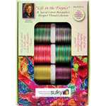Ten spool Sulky 30wt. Blendable<sup>TM</sup> Cotton Thread Collection. Includes a FREE leaf design from the book &Prime;Quick and Easy Weekend Quilting with Sulky&Prime;..