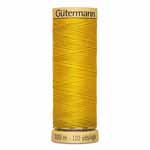 Gütermann 100% natural cotton thread is made with the finest, long-staple cotton and is strong with a silk-like lustre. Suitable for both hand and machine sewing. Ideal for piecing and embroidery work with the finest cotton fabrics. Brown spool colour. TKt No. 100, Tex: 30, Dtex: 300, 3-ply. Suggested needle size: US 8/12 (60-80).