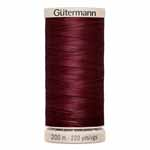 Gütermann hand quilting thread is a beautiful 100% cotton thread specially designed for hand-sewn quilting projects. The glacé finish protects the thread from oils in your hands and prevents snarls and tangles. Not for machine use. Taupe spool colour. TKt No. 70, Tex: 45, Dtex: 450, 3-ply.