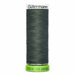 Be responsible for the environment - conserve natural resources! This 100% recycled polyester thread is flexible, soft, supple, non-fading and colourfast. It will not twist or throw fibres while sewing, is tear and abrasion resistant and is consistent with no thin and thick areas. Recommended needle size 70 - 90. Green spool colour.  TKt No. 100, Tex: 30, Dtex: 300, 2-ply. Suggested needle size: US 10/14 (70-90)