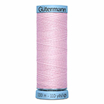 The thread on which GÜTERMANN was founded. Synonymous with quality and luxury; Gütermann 100% spun silk has beautiful lustre and can be used for construction seams, or buttons and button holes in fine garments, or for ornamental and decorative stitching. Suitable for hand and machine sewing. Blue spool colour. TKt No. 100, Tex: 30, Dtex: 300, 3-ply. Suggested needle size: US 12/14 (80-90).