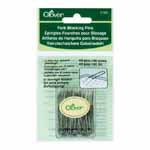 U-Pin for secure pinning and easy removal. Includes 40 pieces. Clover #3163