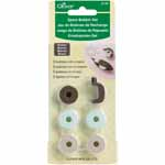 Spare Bobbin Sets are for exclusive use with Clover Bobbin Tatting Shuttles. Package includes five bobbins and one stopper. Bobbin sets are available in white (#7881070) and brown (#7881080).