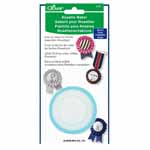 Make rosettes for any occasion in three simple steps. Package includes parts and template to create one rosette. Ribbon template is reusable, separate parts available to create more rosettes (#7884320). Templates are available in both small and large.