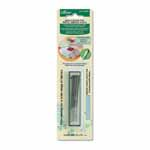 5 barb needles in a package. These replacement needles are specifically used for Clover's Needle Felting tools. Gauge 40.