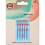 The Universal Needle has a slightly rounded ball point for general sewing, making it suitable for use with most wovens and knits. 5 pcs.