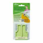 The 6-in-1 Stick 'n Stitch Guide is a 2 piece interlocking guide with ideal shapes and edges for perfect stitching. It features a reusable and repositionable adhesive guide underside, which makes it ideal for straight stitching, stitching strips, and curve stitching. Clover #9584