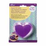 Heart shaped. Gather and store pins safely. Easy grip large head and sharp finish.