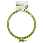 Plastic embroidery hoop. Ideal for embroidery. 15cm. Green.