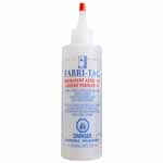 Permanent adhesive that bonds fabric, lace, glass, leather, wood & trims. Grabs fast & dries clear. Acid free, washable.