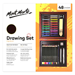 Mont Marte 48 piece Signature Drawing Set offers a full range of neatly packed and organized drawing supplies in a stylish wooden box.  This set is the perfect gift for a friend or addition for your own art supplies.
