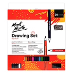 The Mont Marte Signature 24 Piece Drawing Set offers everything you need in a fantastic range of pencils and essential drawing tools.  Starting out or a drawing afficianado this set has you covered.