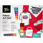 Get creative with clothing, fabric shoes, tote bags, cushions and other DIY fashion and homewares with the Signature Fabric Paint Set. This fabric art set comes with 9 fabric paint sticks, 6 fabric markers and 6 puffy fabric paints that can be used on a range of fabrics. Also includes a canvas bag for storage.