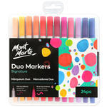 The Mont Marte Adult Colouring Duo Markers come in 24 great colours so as to colouring can be done by anyone, not just artists. The fine tip creates beautiful crisp and clean lines while the brush tip is for smooth even colour. With 0.8mm (0.03″) fine tip and 3.75mm Brush (0.14″) tip, these markers are for any person who wants to create drawings, technical work or illustrations