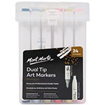 Illustrators, fine artists and designers now can create your style with the Mont Marte Premium Dual-Tip Markers. Featuring 24 rich colours and high-quality ink, these professional level markers Alcohol-based ink, chisel and brush pen are suitable for blending, shading, hatching and any other techniques to enhance your projects.