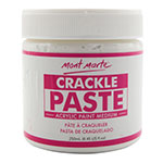 Create your own texture and crackle effects with Mont Marte Crackle Paste that let you make amazing effects on your artwork. Easily manipulated (drying time: 2-3 hours), providing opaque medium tone and can be used on a range of materials like wood, polymer clay, and canvas to create artistic effects and textures.
