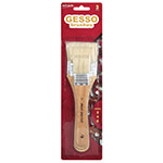 3 piece hog hair Gesso brush set will make priming, varnishing or painting large background areas easy. For use with Acrylic, oil watercolour and poster paints. The soft hog hair holds paint well and the brush features natural wooden handles and silver ferrules.  The brushes included in this set are; Flat 2, Flat 4 and Flat 6.
