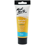 Mont Marte studio acrylic paint is smooth, fast drying and contains quality pigments. This water-based acrylic dries to a glossy finish and ensures great coverage, light fastness and vibrant colour.