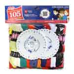 Includes 105 solid coloured skeins of 6 strand, 8m (8.7yd) 100% mercerized cotton embroidery/craft floss.